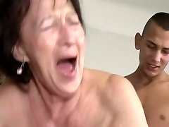 Granny Loves Youthfull Boy's Nut Sack and Ass