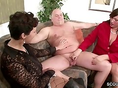 German MILF Flash Duo to Fuck Good in Threesome