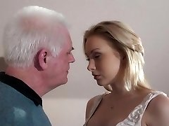 Young blonde boning older employer to get the secretary job
