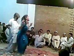 Afghani old guy funny marvelous dance with hot shemale Ghazala