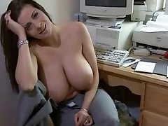 Sexy monstrous boobed woman