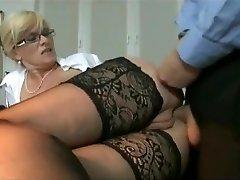 Marina Montana Secretary Butt-banged Hangers udders tights