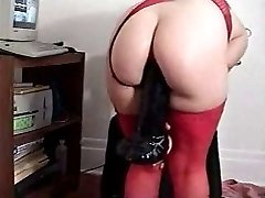 Mature BJ toying with toys