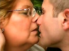 Chubby Granny Luvs Younger Cock