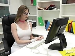 Gorgeous Office Cockslut Gets Ruined By Random Guy Off the I