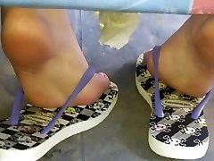 Candid teenager amazing soles and soles sola pies