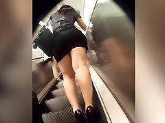 flawless ass in sluty miniskirt