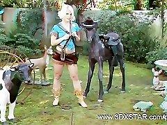 Ash Hollywood Gets a Cowgirl Three Dimensional Man Rod