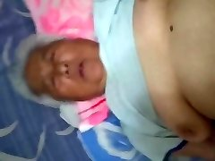 White-Haired Chinese Granny Liking Sex
