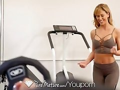 PUREMATURE Sexual instructing gym fuck with Milf