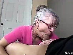 Mummy Litterally Salivates To The Young Hard Cock