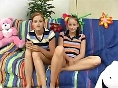 Twin Nubile Childminders Earn A Bonus