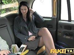 FakeTaxi Black-haired exhibitionist enjoys cameras