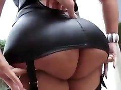 Glorious latina with gigantic tits