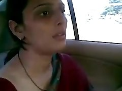 desi aunty pulverizing with her bf in car bj fun