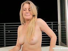 Blond model casting