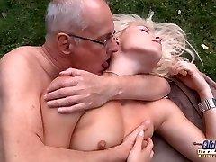 65 glassed grandpa smash fresh meat crevasse of S