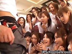 Super-sexy Asian schoolgirls exploring