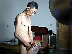 Asian Slender Daddy Wank