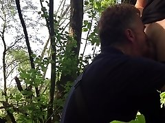 Hidden cam: two stangers gargle my schlong in public