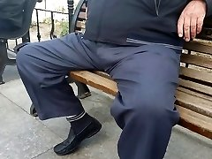 Straigh Turkish Granddad in Public