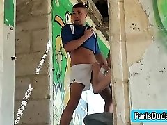 French jock blown in public