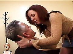 Dominatrix anal plowing a lad