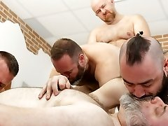 Hairy Man Riders Pub Orgy! - BearFilms