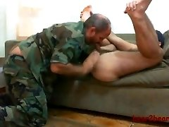Hairy Man and militar dude...o yeahh