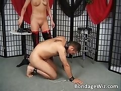 Trussed guy fucks his mistress tight raw part1