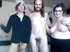 Straight and gay and lush dame make kinky threesome online