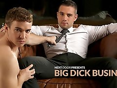 Dylan Knight & Gabriel Cross in Big Dick Biz HARDCORE Video - NextdoorBuddies