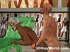 Bisexual Pharaoh Fucks Folks and Women 3D Gay Animation Anime