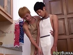 Asian bony twinks fuck