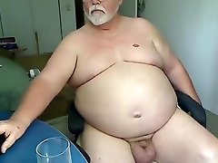 Grandfather play on webcam