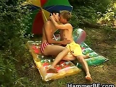 Horny outdoor gay bareback boning porn partTwo