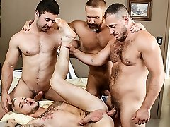 Colton Grey & Derek Bolt & Dirk Caber & Marc Giacomo in Wooly Tales Part 3 - DrillMyHole