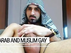 Arab fag indecent desert warrior. Iraqi soldier at day, queer plower at night
