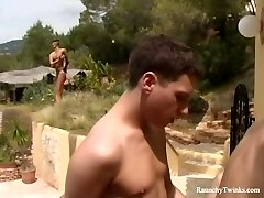 Tough Boys Outstanding Outdoor Private Villa Anal Fucking Spree