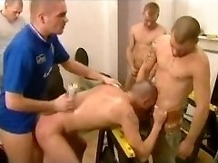 British Construction Worker & Cop Gangbang