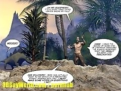 CRETACEOUS Man-meat 3D Homo Comic Story about Youthful Scientist Fucked by Caveman!
