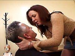 Mistress anal pulverizing a twink