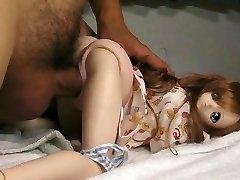 Cumming inside anime sex doll.