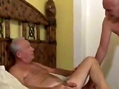 Three mature homo grandfather are having sex with each other