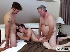 Teenage Whore Gets Double Porked (DP) By Old And Str8 Guy Bareback