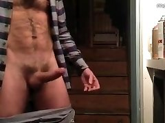 Fur Covered Hunk Jerks off & Cums