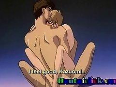 Little anime homosexual gets anal bareback