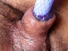 Fat Jap cum dump pig Shino foreskin onanism close up