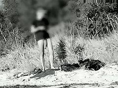 Monster man rod at a german nude beach