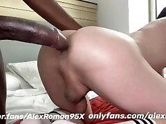 Big black dick in white donk